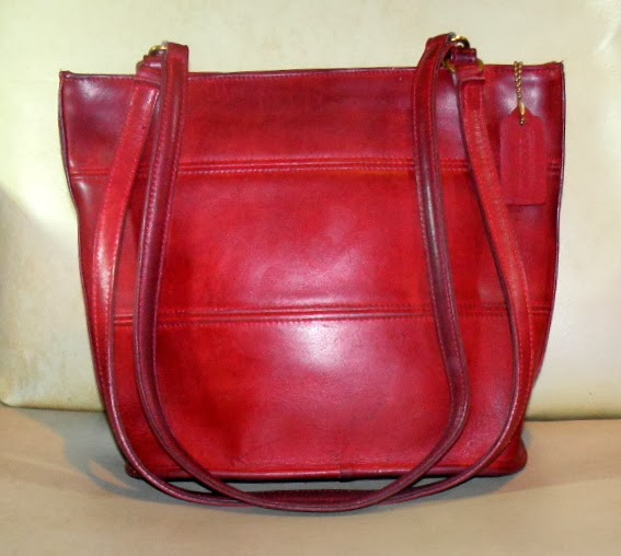 Rare Red Vintage Coach Tote Bag