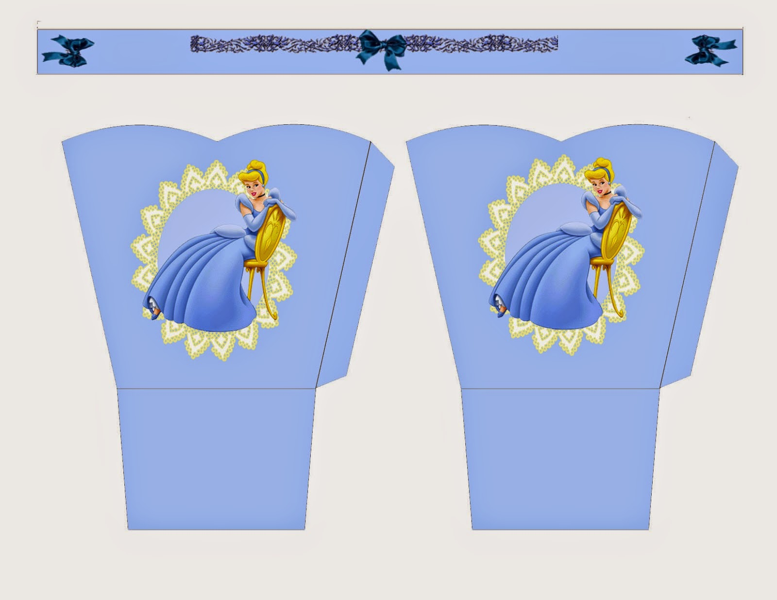 Cinderella Free Printable Basket.
