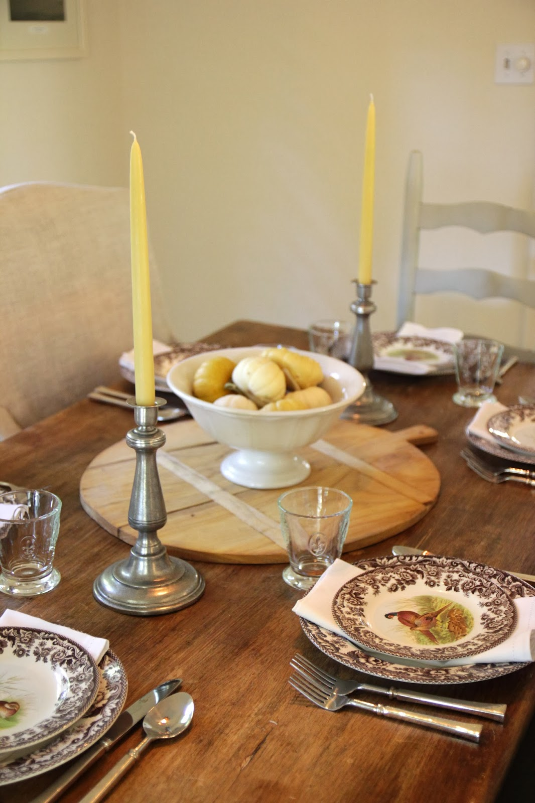 Jenny Steffens Hobick: Creams & Brown Fall Table Setting ...