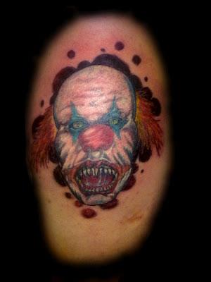 Tatuaje de Payaso Diabólico