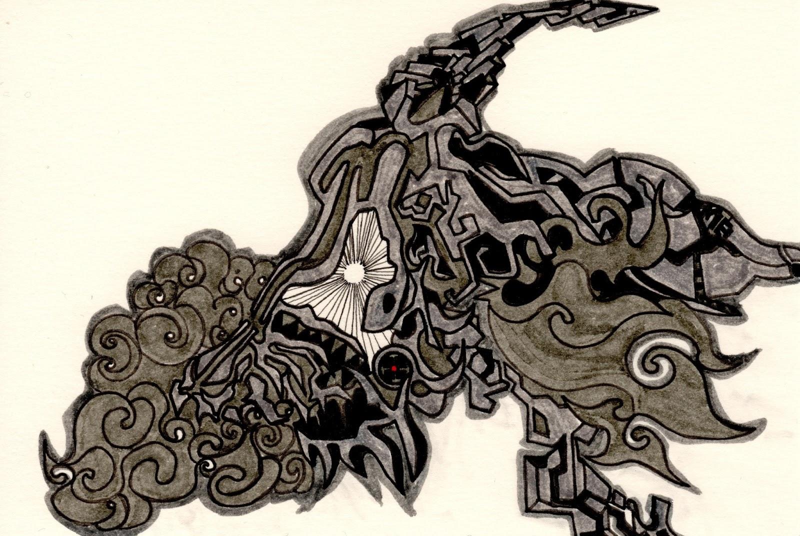 Bone of the head of the Unicorn