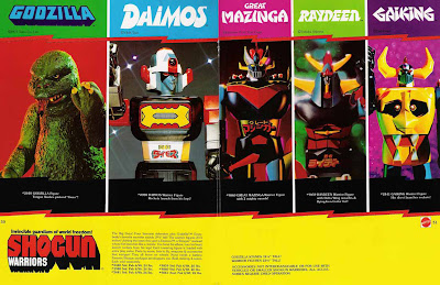 Mattel Shogun Warriors Catalogue