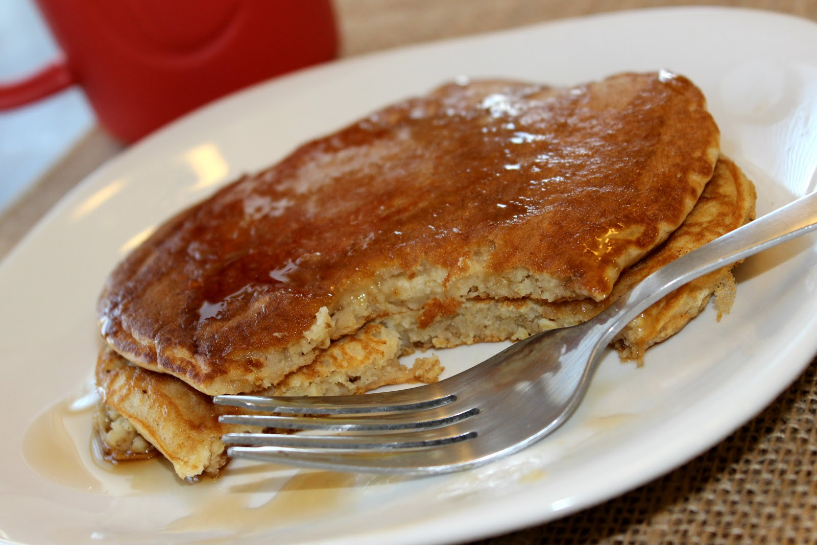 love a good pancake recipe. This one is quick, simple, and healthy ...
