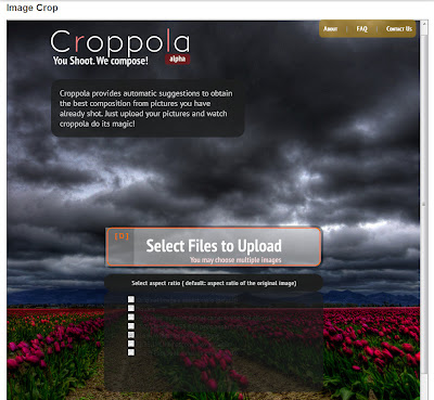 Carregamento de imagens no Croppola
