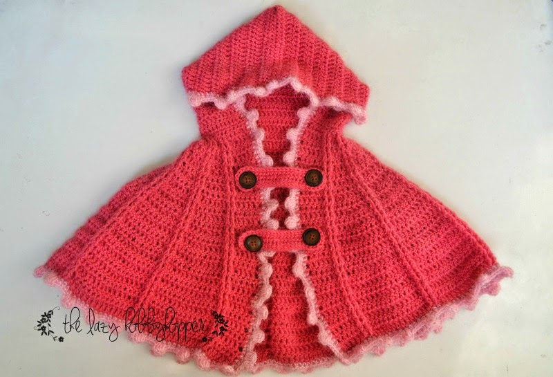 Crochet Pattern For Baby Hooded Poncho : The Lazy Hobbyhopper: Hooded cape - new pattern