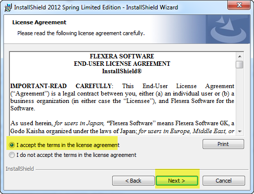 Accept License And Click Next