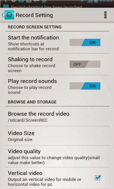 Android Ekran Videosu Çekme Programı