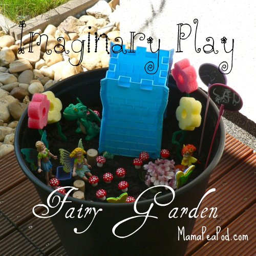 imaginary play making fairy garden fairies castle pool noodle flowers