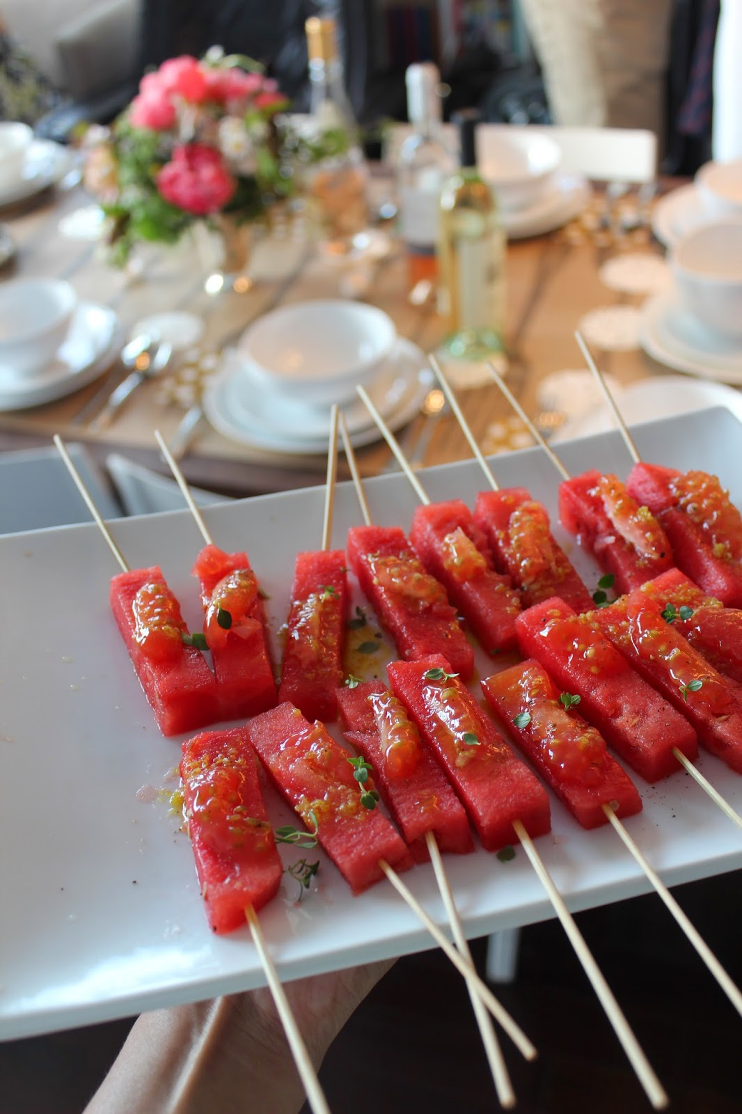 Tomato-Watermelon Skewers // Runaway Apricot