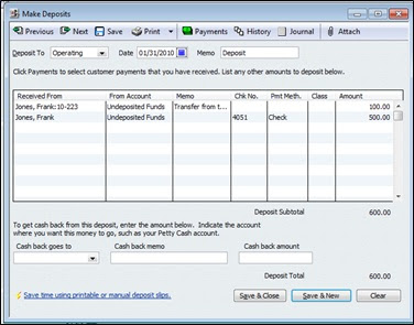 how to make entry in quickbooks bank account
