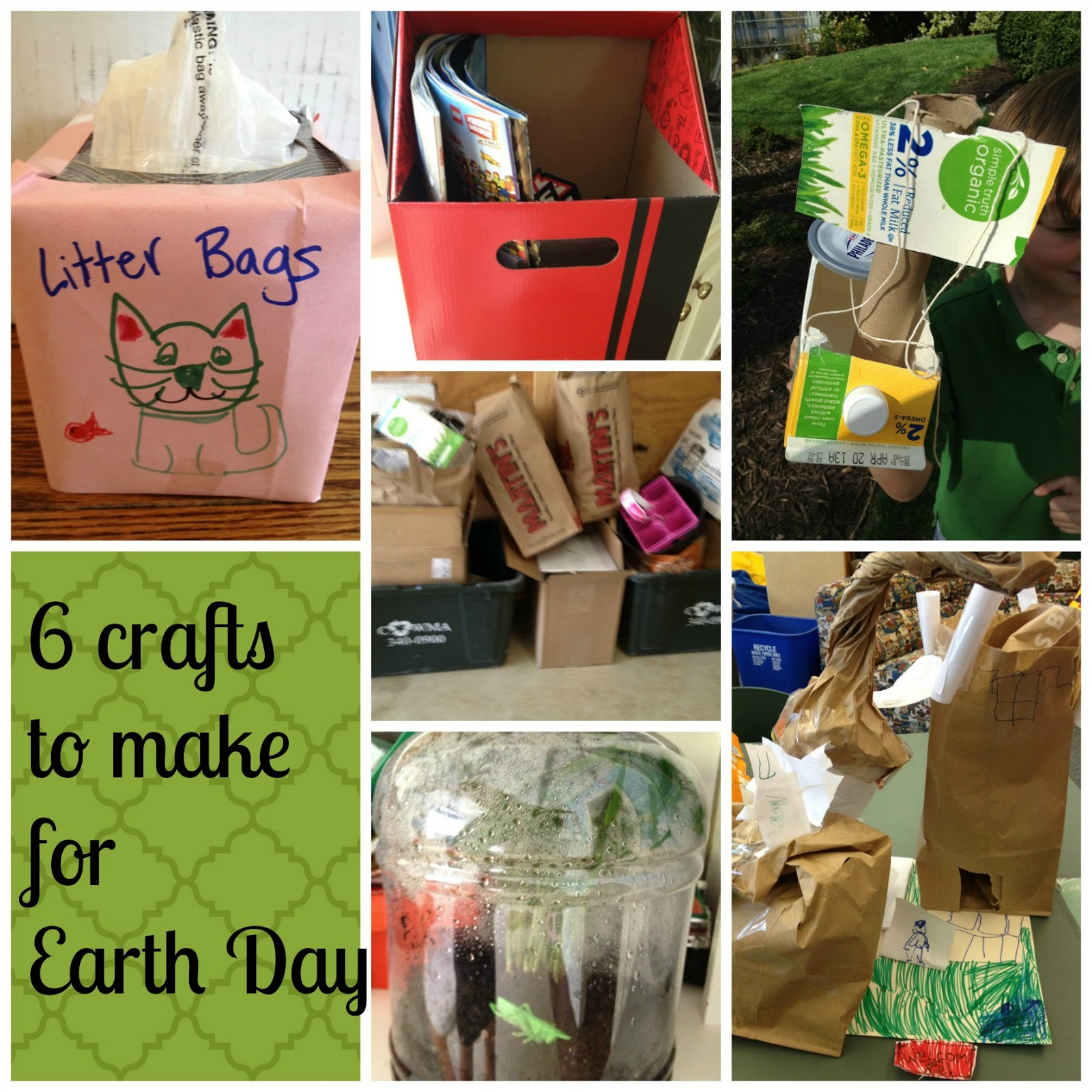 Making Crafts From Recycled Materials For Earth Day