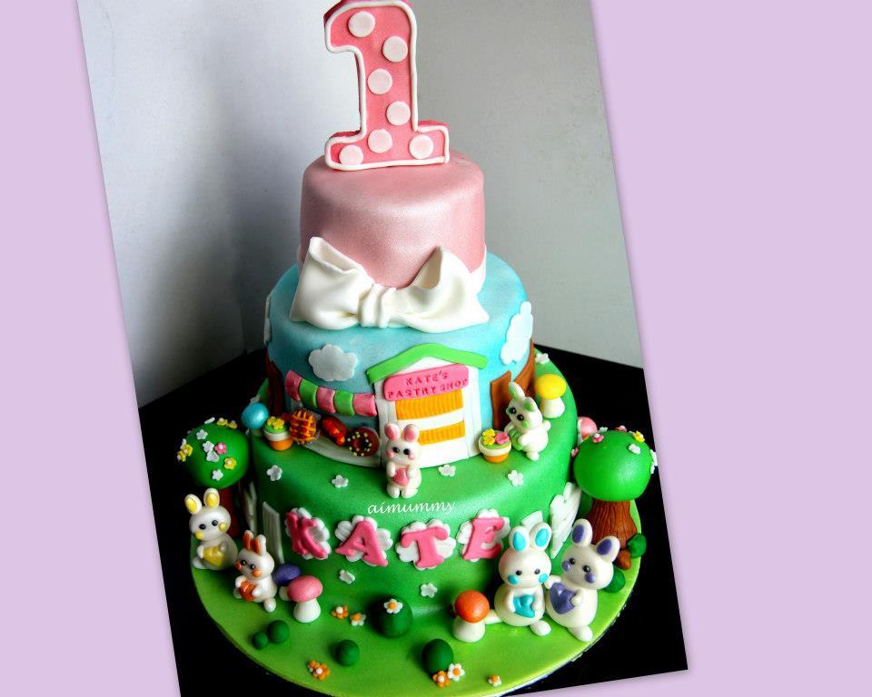 Aimummy Bb Kate S 1st Birthday Cake
