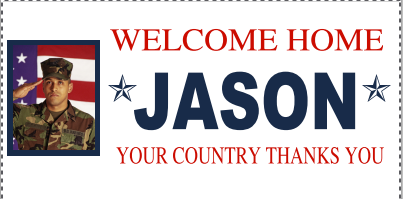 free welcome home banner