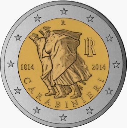 2 euro Italy 2014, Arma dei Carabinieri