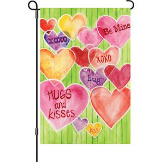 """""""Be Mine"""" Valentine's Day Garden Flag"""