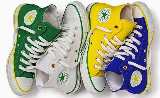 Converse Chuck Taylor All Star coleção Brasilidade para o Mundial Brasil 2014