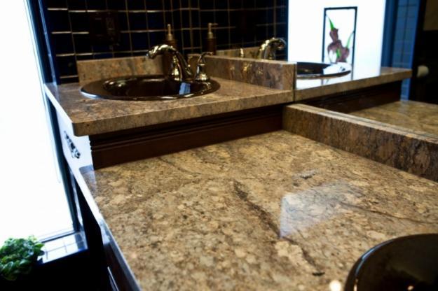Custom granite vanity tops for Custom marble bathroom vanity tops