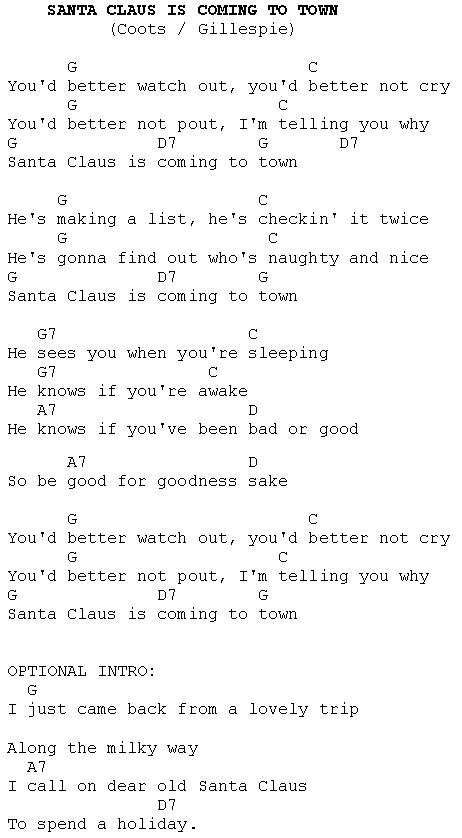 Santa claus is comin to town mariah carey lyrics