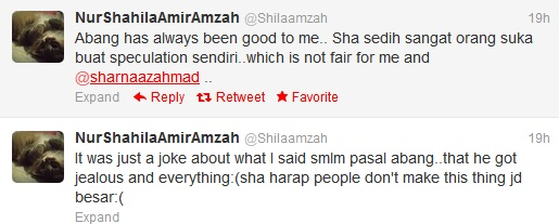 Penjelasan Sharnaaz Maki Shila Amzah Di Twitter