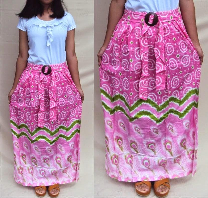 rok-batik-motif-merak-warna-pink