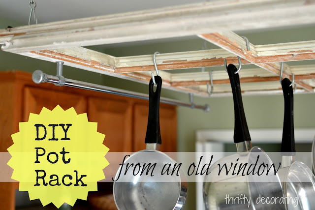 DIY: Turn an Old Window into a Kitchen Pot Rack!
