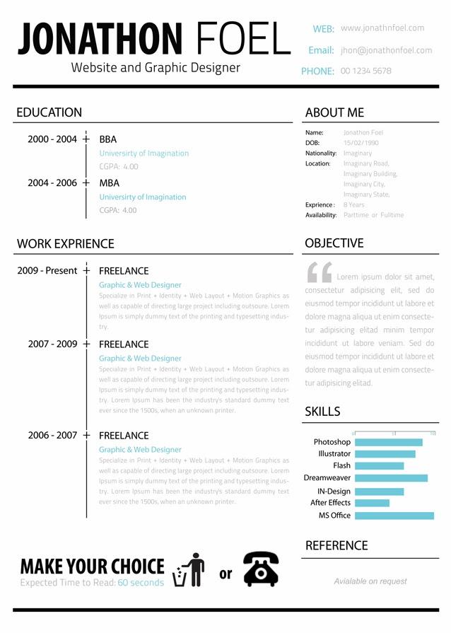 resume format  template cv yang bagus