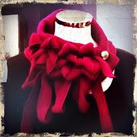 Rew plum fleece collar