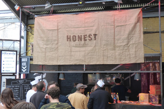 Honest Burger stand - Dalston Yard - National Burger Day 2015