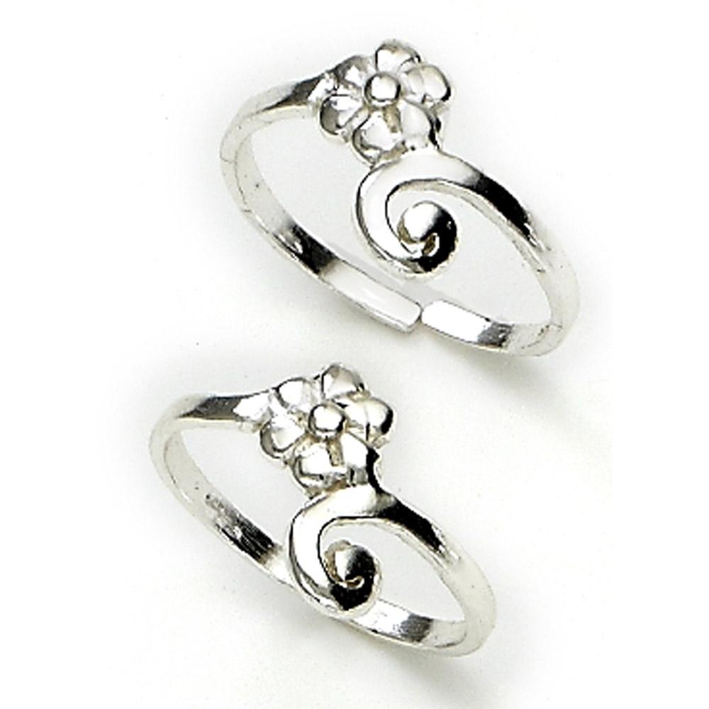 silver toe rings for