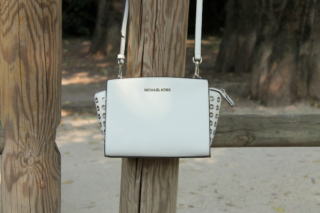 Michael Kors white bag