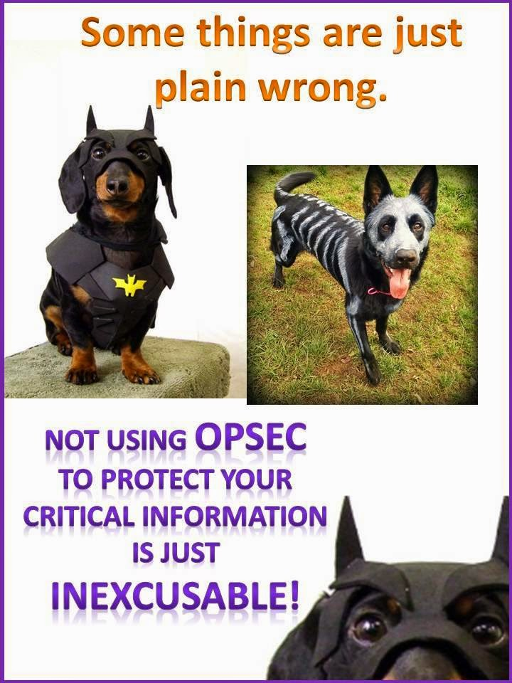 Some things are just plain wrong. Not using OPSEC to protect your critical information is just inexcusable