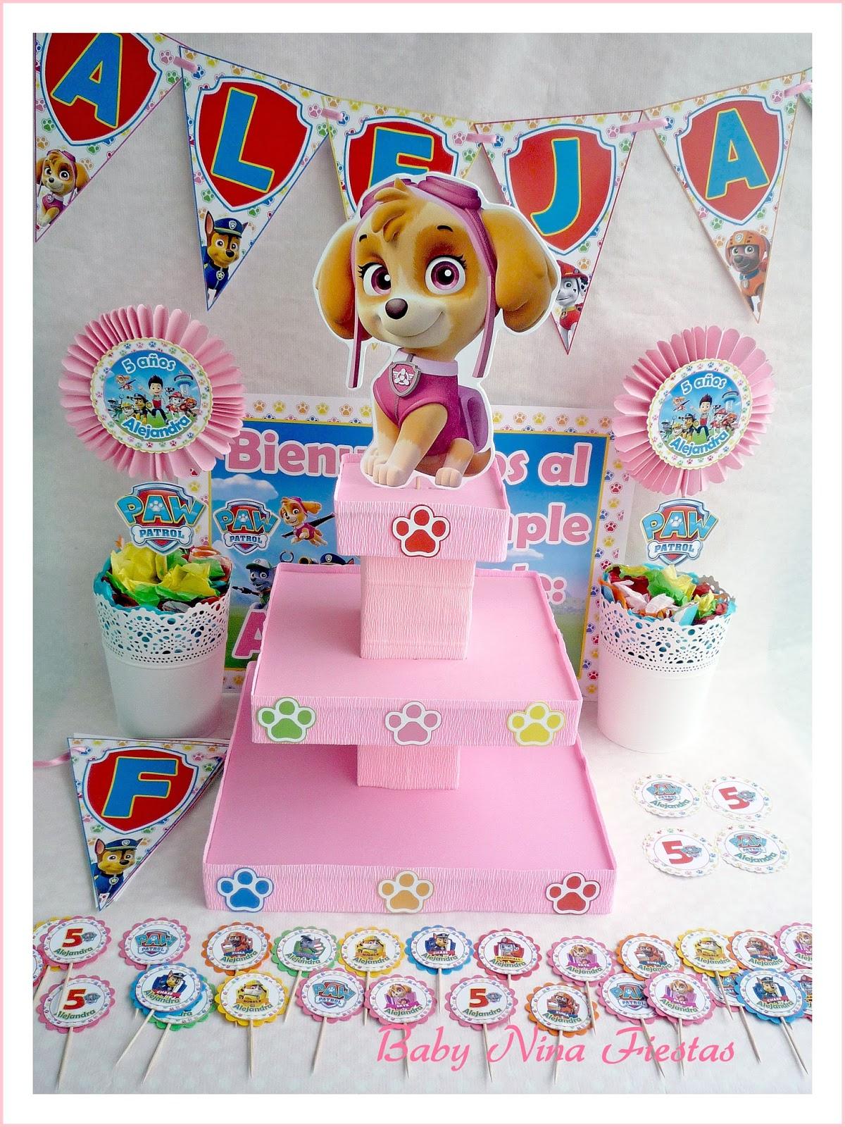 Baby nina fiestas kit de cumplea os patrulla canina sky - Manualidades patrulla canina ...
