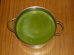 Nettle and parsley soup