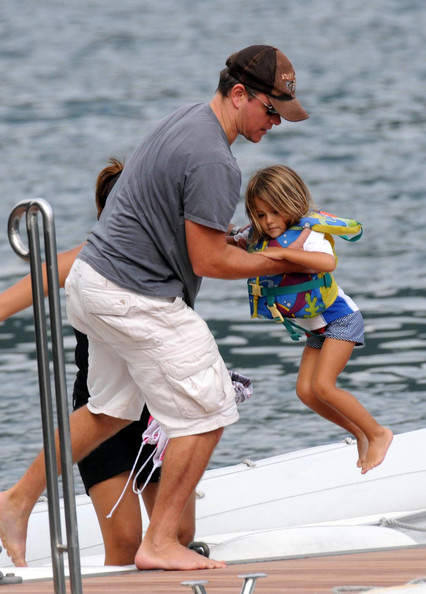 Matt Damon and Luciana Damon kid Isabella Damon