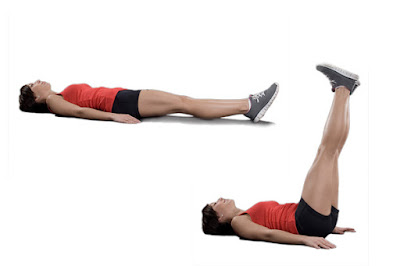 In order to be flat stomach, leg movement lifts do this every day