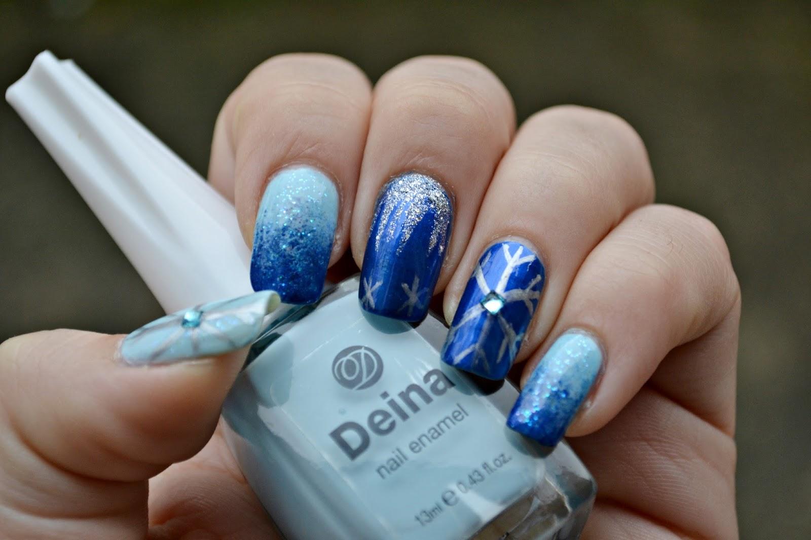 Frozen Elsa nail art