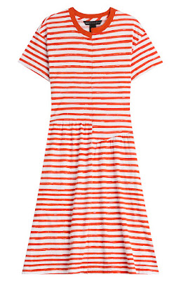 Marc Jacobs Red and White Striped Dress