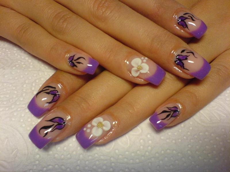 The Enchanting Black french nail designs Photograph