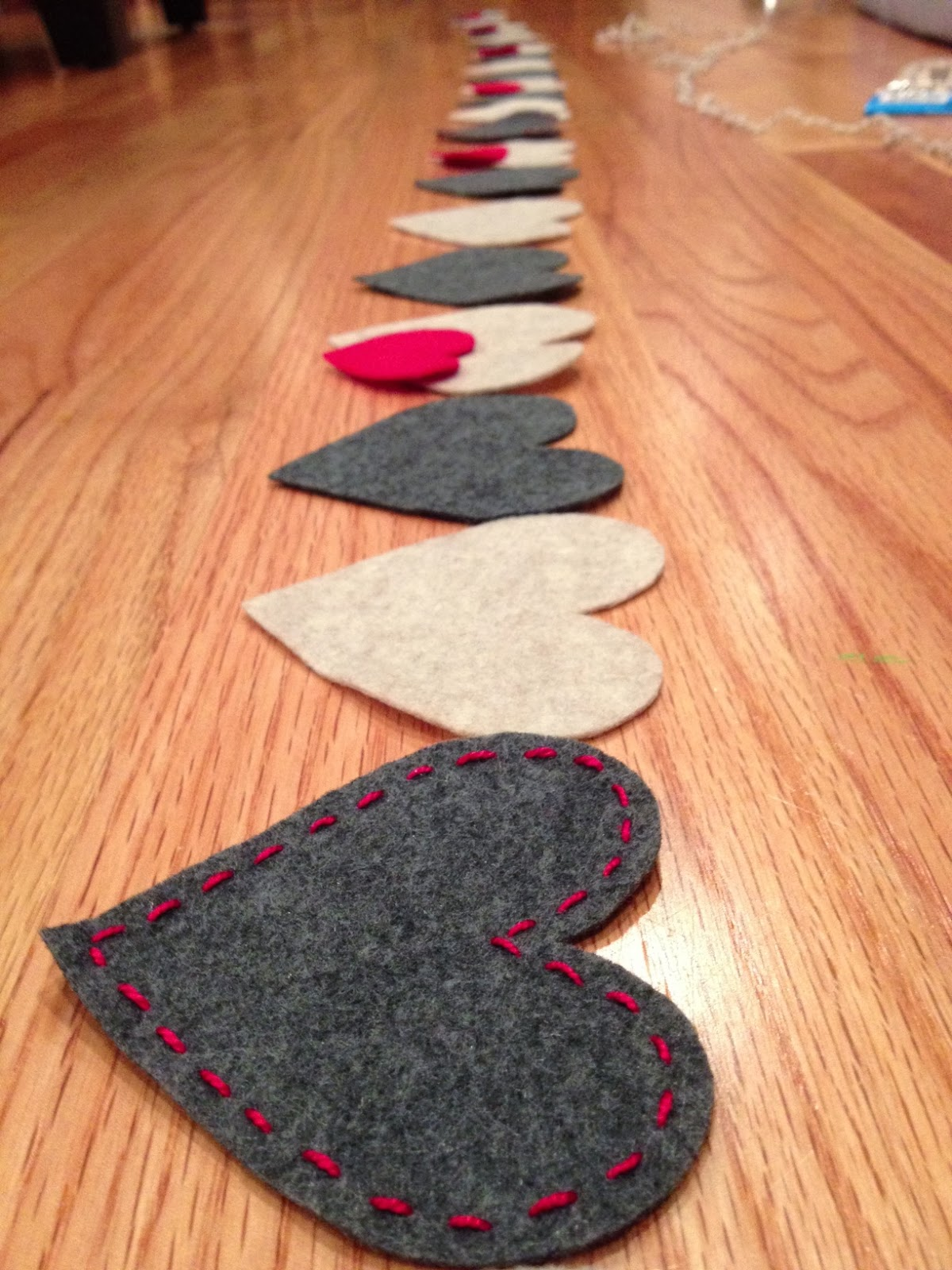Felt Heart Garland: Cobberson & Co.