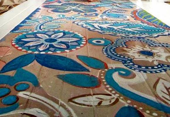 suelos pintados, vintage