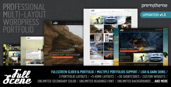 Image for FullScene – Portfolio / Photography Theme by ThemeForest