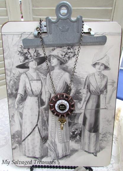 repurposed hardware upcycled jewelry