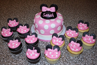 Cupcakes Minnie Mouse, parte 1
