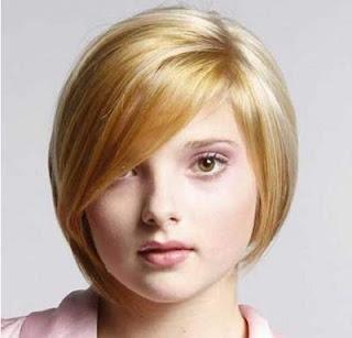 model potongan rambut pendek brief straight bob