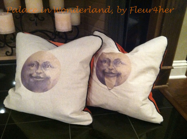 Halloween Pillows, DIY bias tape and piping, fleur4her, Palace in Wondeland