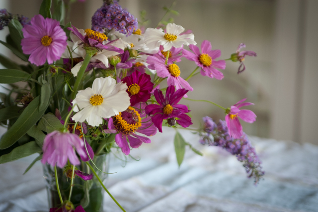 Pleasant View Schoolhouse Flowers For Daisys Birthday Table
