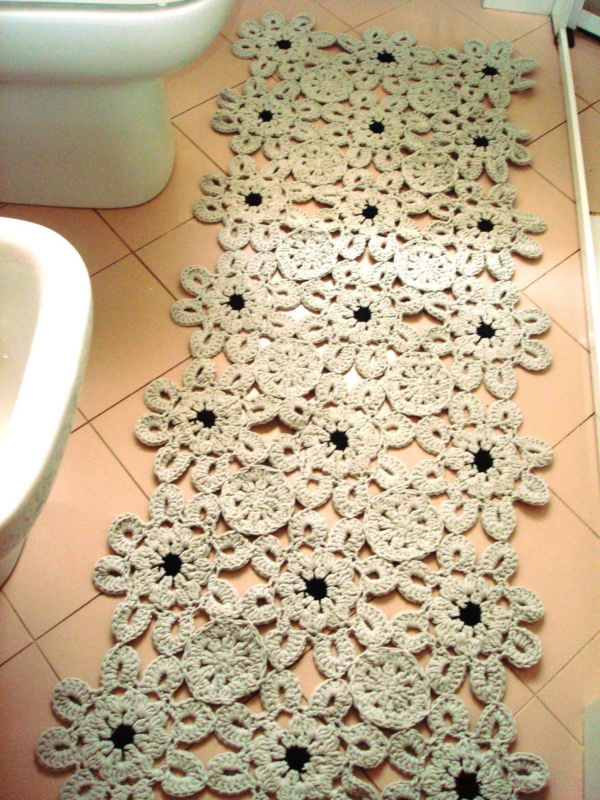 Crazy uncinetto e non solo nuovi tappeti - Sale da bagno fai da te ...