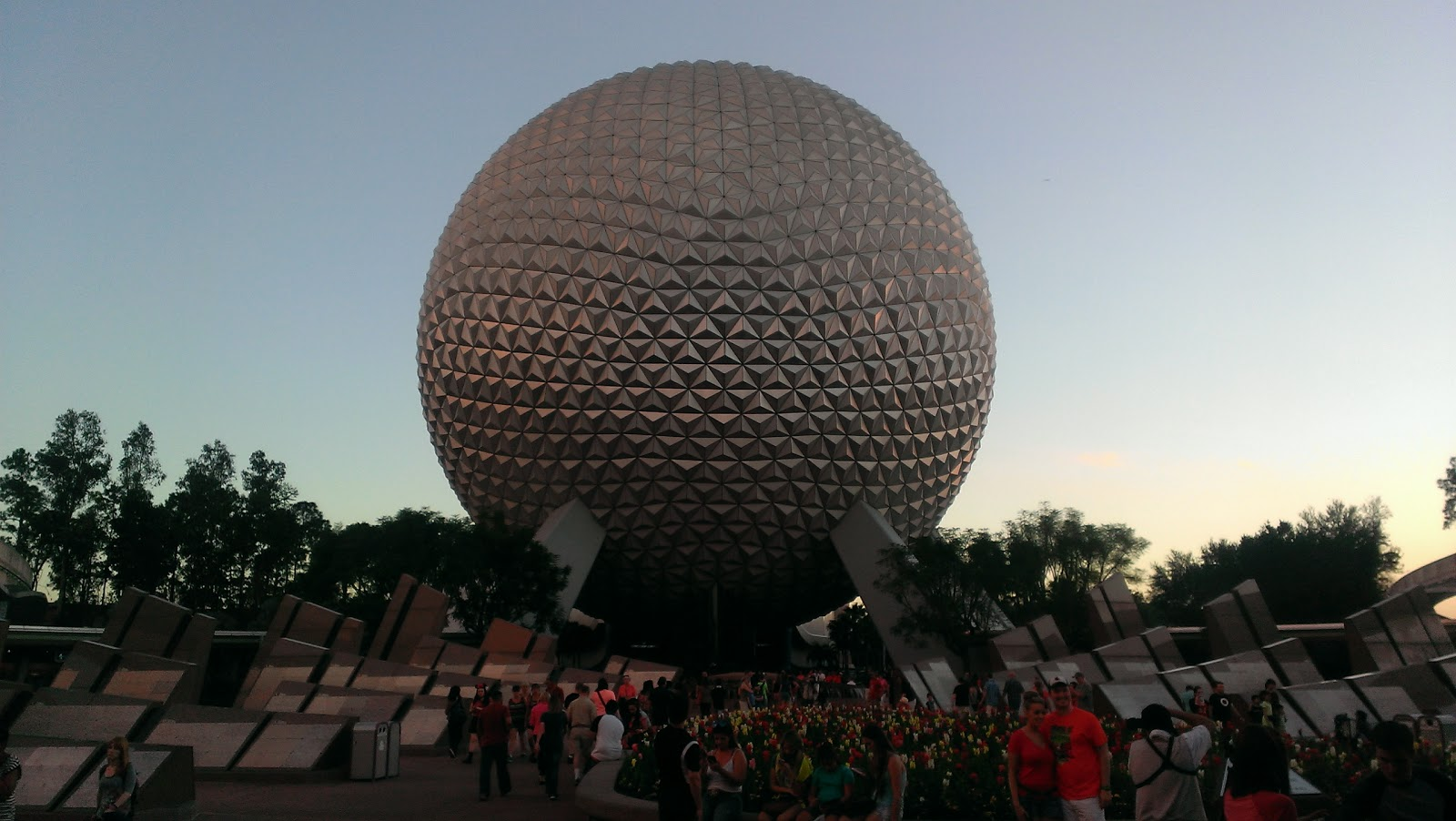 spaceship earth at disney epcot from entrance