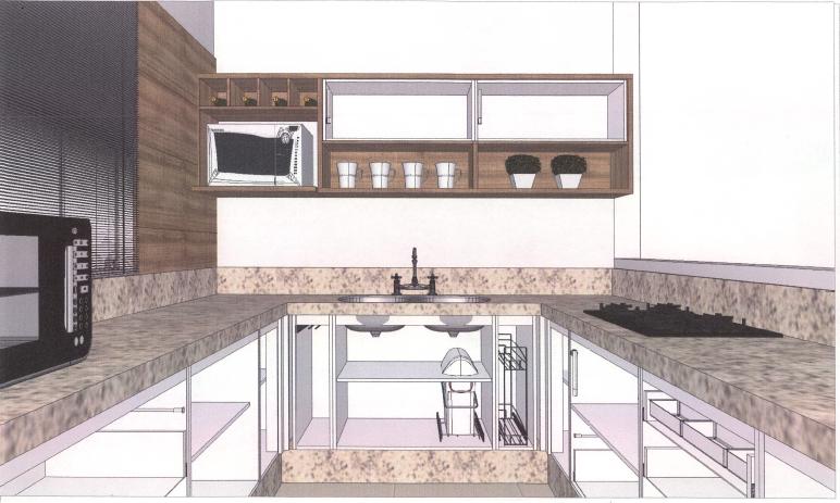 Cozinha planejada - Projeto definitivo