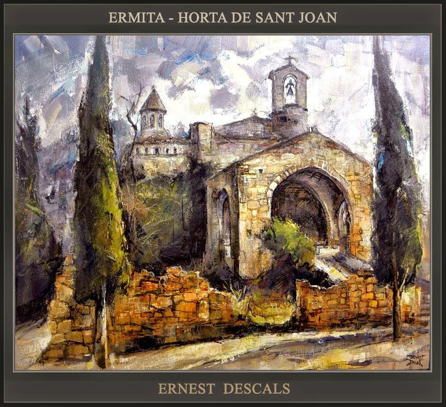 ERMITA-HORTA DE SANT JOAN-PINTURA-TARRAGONA-TERRA ALTA-PAISAJES-PAISATGES-PINTOR-ERNEST DESCALS-